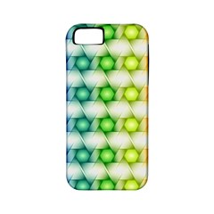 Background Colorful Geometric Apple Iphone 5 Classic Hardshell Case (pc+silicone)
