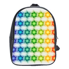 Background Colorful Geometric School Bag (xl)