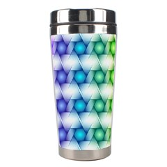 Background Colorful Geometric Stainless Steel Travel Tumblers by Nexatart