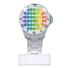 Background Colorful Geometric Plastic Nurses Watch