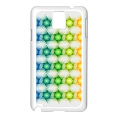 Background Colorful Geometric Samsung Galaxy Note 3 N9005 Case (white)