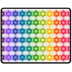 Background Colorful Geometric Double Sided Fleece Blanket (medium)