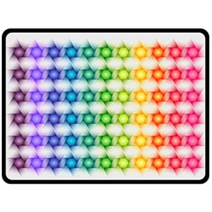 Background Colorful Geometric Double Sided Fleece Blanket (large)