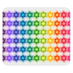 Background Colorful Geometric Double Sided Flano Blanket (small)