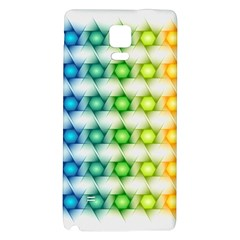 Background Colorful Geometric Galaxy Note 4 Back Case by Nexatart