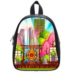 Zen Garden Japanese Nature Garden School Bag (small)