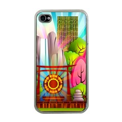 Zen Garden Japanese Nature Garden Apple Iphone 4 Case (clear)