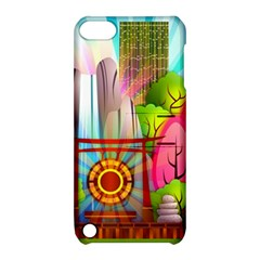 Zen Garden Japanese Nature Garden Apple Ipod Touch 5 Hardshell Case With Stand
