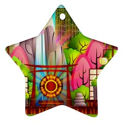 Zen Garden Japanese Nature Garden Ornament (star)