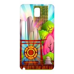 Zen Garden Japanese Nature Garden Samsung Galaxy Note 3 N9005 Hardshell Back Case by Nexatart