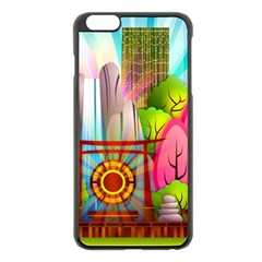 Zen Garden Japanese Nature Garden Apple Iphone 6 Plus/6s Plus Black Enamel Case