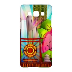 Zen Garden Japanese Nature Garden Samsung Galaxy A5 Hardshell Case  by Nexatart