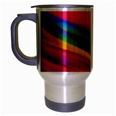 Colorful Background Travel Mug (silver Gray)