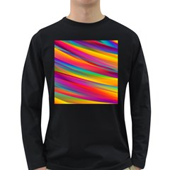 Colorful Background Long Sleeve Dark T Shirts