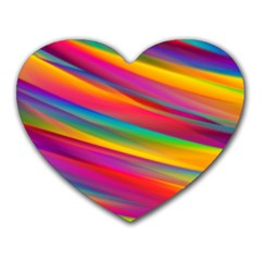 Colorful Background Heart Mousepads