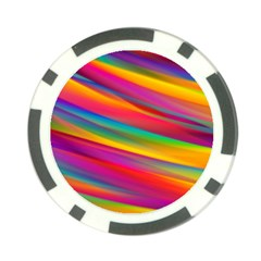 Colorful Background Poker Chip Card Guard