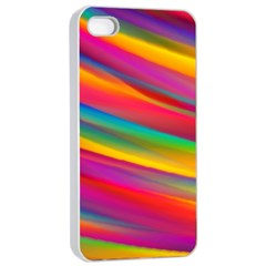 Colorful Background Apple Iphone 4/4s Seamless Case (white)