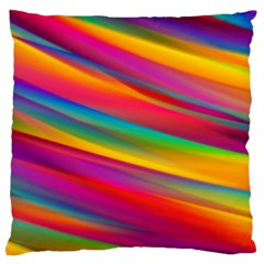 Colorful Background Large Cushion Case (two Sides)