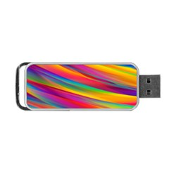 Colorful Background Portable Usb Flash (two Sides) by Nexatart