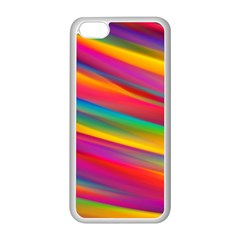 Colorful Background Apple Iphone 5c Seamless Case (white)