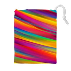Colorful Background Drawstring Pouches (extra Large)