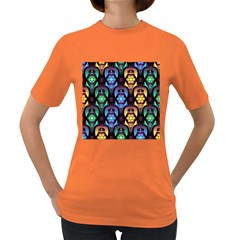 Pattern Background Bright Blue Women s Dark T Shirt