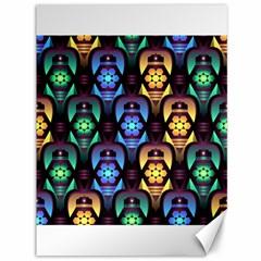 Pattern Background Bright Blue Canvas 36  X 48