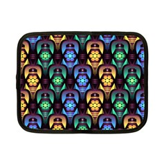 Pattern Background Bright Blue Netbook Case (small)  by Nexatart