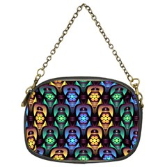 Pattern Background Bright Blue Chain Purses (one Side)