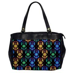 Pattern Background Bright Blue Office Handbags by Nexatart