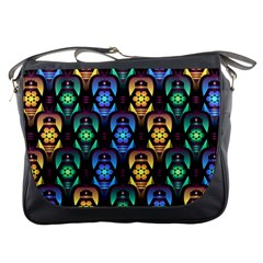 Pattern Background Bright Blue Messenger Bags