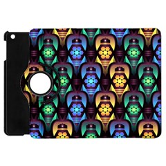 Pattern Background Bright Blue Apple Ipad Mini Flip 360 Case