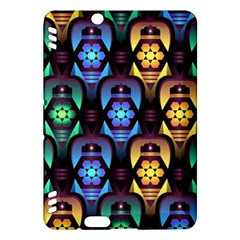 Pattern Background Bright Blue Kindle Fire Hdx Hardshell Case