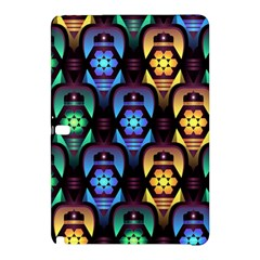Pattern Background Bright Blue Samsung Galaxy Tab Pro 10 1 Hardshell Case