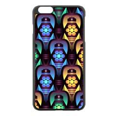 Pattern Background Bright Blue Apple Iphone 6 Plus/6s Plus Black Enamel Case