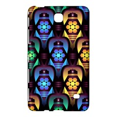 Pattern Background Bright Blue Samsung Galaxy Tab 4 (8 ) Hardshell Case