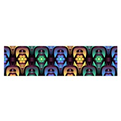 Pattern Background Bright Blue Satin Scarf (oblong)