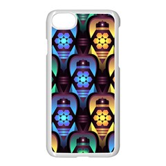 Pattern Background Bright Blue Apple Iphone 7 Seamless Case (white)