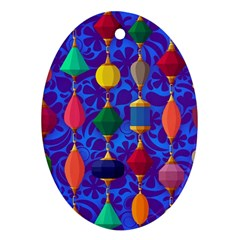 Colorful Background Stones Jewels Ornament (oval)