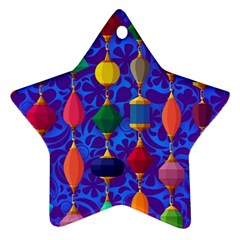 Colorful Background Stones Jewels Ornament (star)