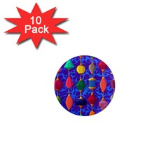 Colorful Background Stones Jewels 1  Mini Magnet (10 Pack)