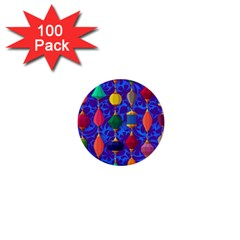 Colorful Background Stones Jewels 1  Mini Buttons (100 Pack)