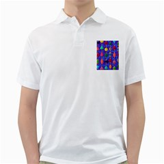 Colorful Background Stones Jewels Golf Shirts