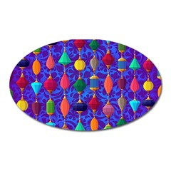 Colorful Background Stones Jewels Oval Magnet