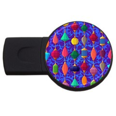Colorful Background Stones Jewels Usb Flash Drive Round (4 Gb)
