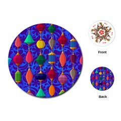 Colorful Background Stones Jewels Playing Cards (round)