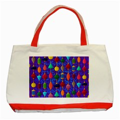 Colorful Background Stones Jewels Classic Tote Bag (red)