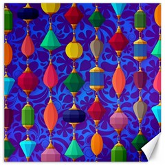 Colorful Background Stones Jewels Canvas 16  X 16
