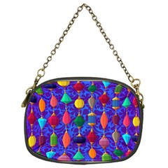 Colorful Background Stones Jewels Chain Purses (two Sides)