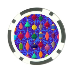 Colorful Background Stones Jewels Poker Chip Card Guard (10 Pack)
